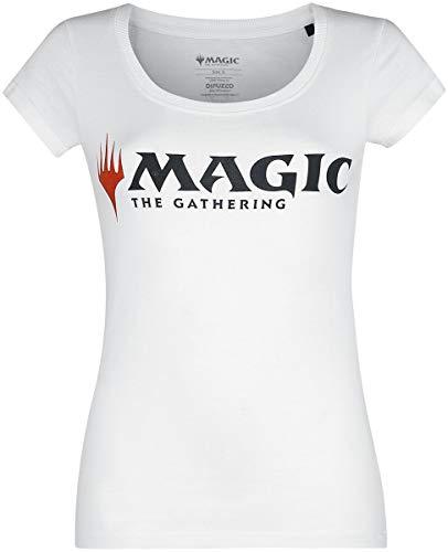 Magic: The Gathering Emblem Frauen T-Shirt weiß XL 100% Baumwolle Fan-Merch, Gaming, Tabletop