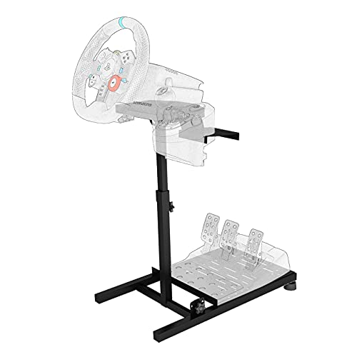 DWDZ Racing Wheel Stand Collapsible&Tilt-Adjustable Steering Wheel Stand for Thrustmaster, Logitech G29, G920, G27 & G25 Wheels, Supporting TX, Xbox,PS4,5, Not Included Wheel and Pedals