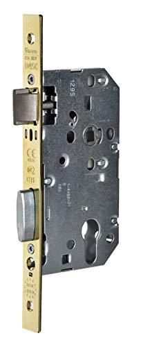 Vachette D455 - Serrure à Encastrer à Cylindre, Réversible, Certifié NF Niveau 3 | Têtière Bouts Carrés, Axe à 50 mm - Pour Porte d'Entrée