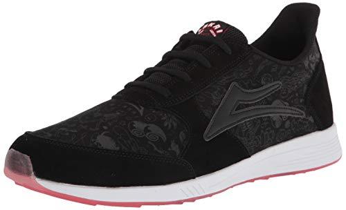Lakai Footwear Mens mens Evo Skate Shoe, Black Suede Print, 12 US