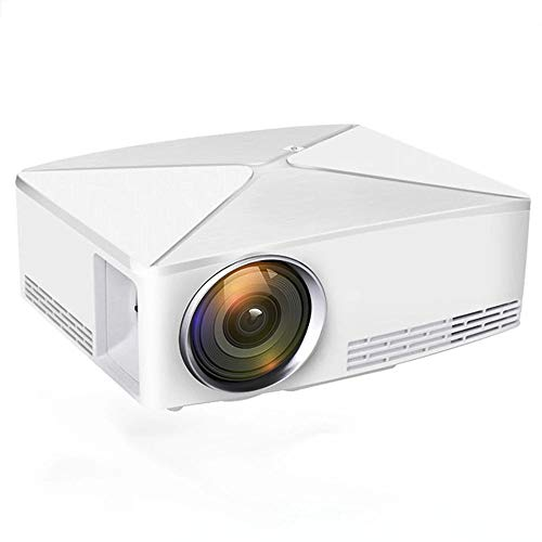 Mini Projector, 1280x720 resolutie, Android WIFI Projector, LED Portable 3D Beamer voor 4K Home Cinema, ondersteuning 1080P, HDMI, USB, AV, VGA-poort,White