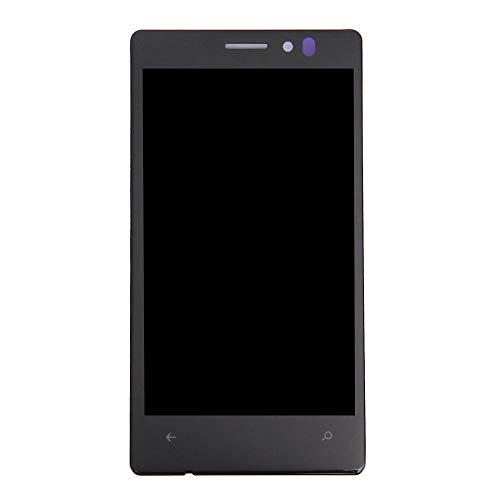 un known Parti di Riparazione per Nokia Lumia 925 Display LCD + Assemblaggio del Pannello in Vetro Touch Screen Accessori Elettronici (Color : Black)