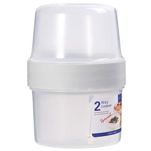 Cabilock Contenedores Portátiles de La Taza de Cereal del Yogurt Contenedores de Almacenamiento de Alimentos Resistentes a Fugas Cajas de Almacenamiento del Refrigerador Contenedores de