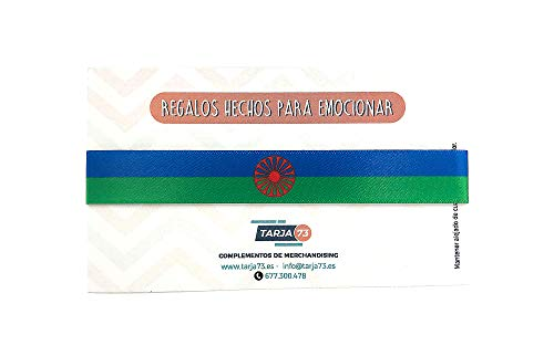 Tarja73 | Pulseras de tela con la Bandera Gitana | Regalo Original | Ideal Para Bodas, Aniversarios, Fiestas