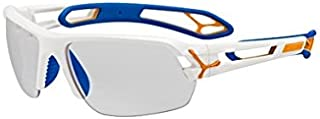 Cébé S'Track L Pro - Gafas de Sol para Hombre, Color Blanco, Azul y Naranja
