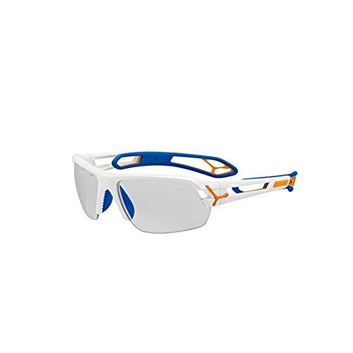 Cébé S'Track L Pro Lunettes de Soleil Homme Blanc/Bleu/Orange
