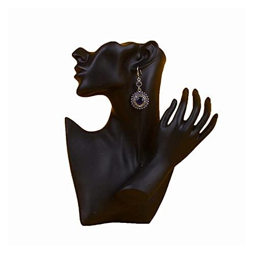 YANRUI Figura abstracta Estatua Pendientes Máscara Mujer Escultura Joyería Collar Boda Escritorio Figuras Decoración del Hogar Regalo de Cumpleaños Adornos