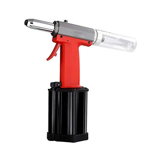 Para casa Pistola de remache neumática, herramienta de mano de grado industrial con clavo autocebante y pistola de remache