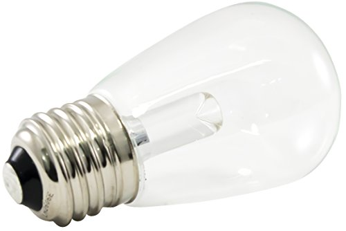 American Lighting PS14-E26-WH Professional LED S14 Light Bulbs, Dimmable, Clear Lens, 1.4-Watts, 120V, 48 Lumens, 5500