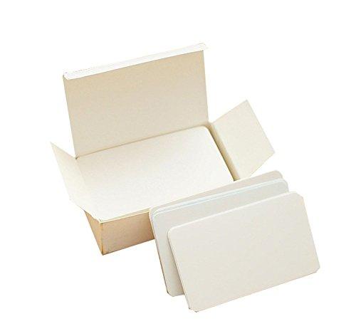 Leisial 100pcs DIY Tarjeta de Palabras Tarjetas para Escribir Mensajes Papel de tarjeta pequeño cuaderno para Tarjetas Tarjeta Postal Regalo Equipaje Etiqueta Papel en Blanco Tarjeta (Blanco)