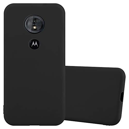 Cadorabo Hülle für Motorola Moto E5 / G6 Play in Candy SCHWARZ - Handyhülle aus flexiblem TPU Silikon - Silikonhülle Schutzhülle Ultra Slim Soft Back Cover Hülle Bumper