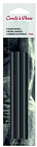 Conté à Paris - Set de 5 carboncillos naturales redondos, 6 mm