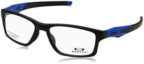 Oakley 8090, Monturas de Gafas para Hombre, Negro (Satin Black/Blue), 55