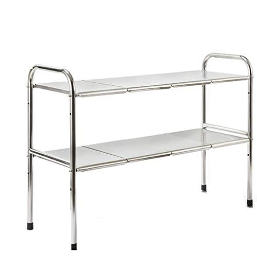 Cocina Entrepaños 2 Tier Ampliable Shelf Organizador Rack, color- Solid expande desde...