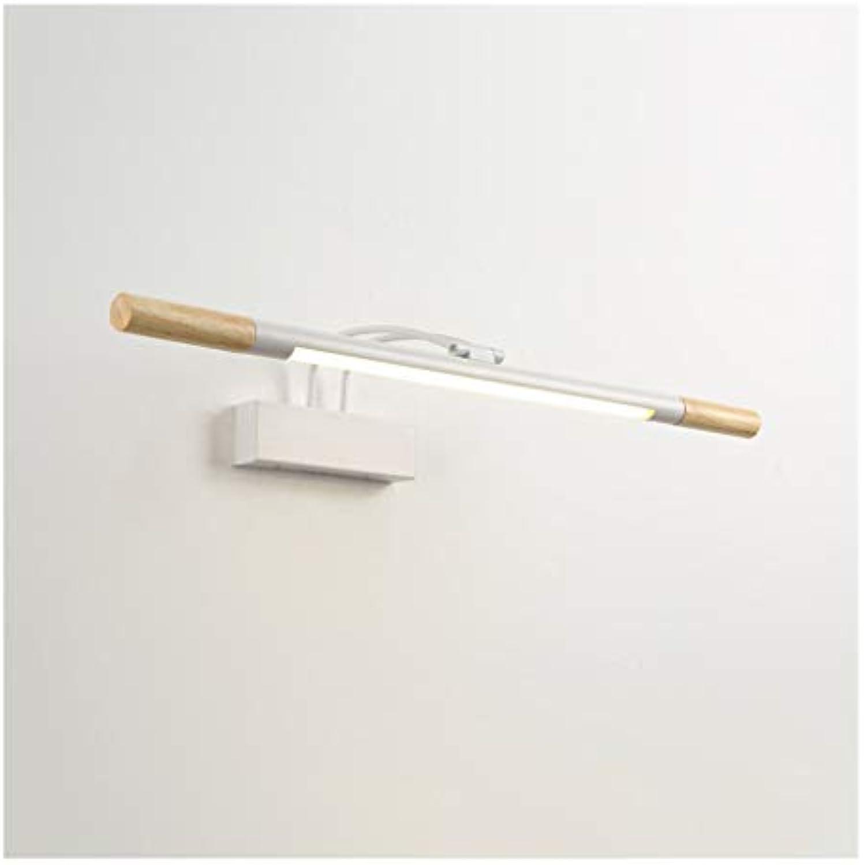 William 337 Spiegel Frontleuchte LED, einfache europische Badezimmer Schminktisch Spiegel Kabinett Licht Schlafzimmer Wandlampe [Energieklasse A +] (Farbe   A-Weies Licht)