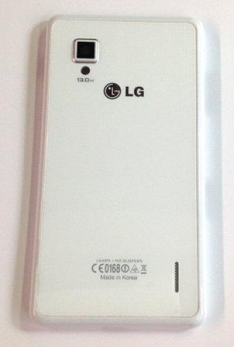 LG Carcasa para batería E975 Optimus G, color blanco original