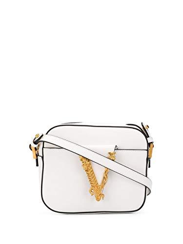 Luxury Fashion | Versace Dames DBFH312D5VITK0AOT Wit Leer Schoudertassen | Lente-zomer 20