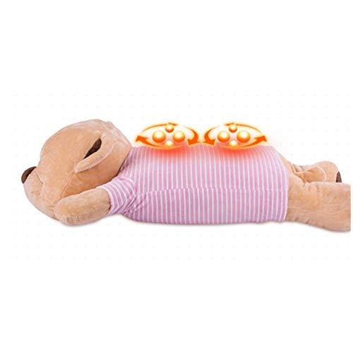 Almohada para masajeador de cuello, botón de inicio, masaje de dos vías, incluso amasado, silencioso y cómodo, protección contra sobrecalentamiento, pelusa agradable para la piel, chip inteligente