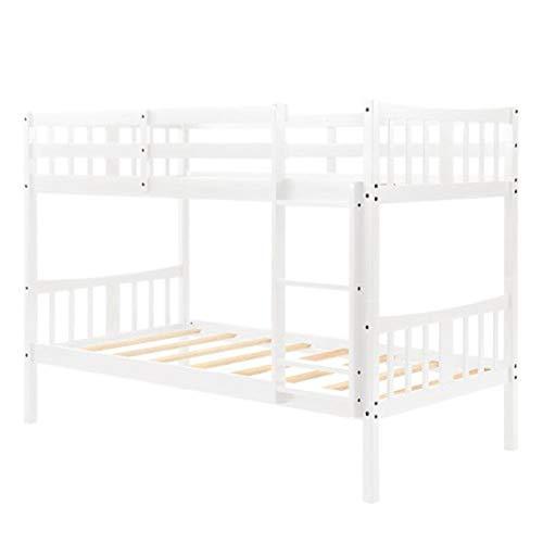 L.W.S Muebles de Dormitorio Cama Blanca Gemela sobre Doble litera con Doble litera Cama Doble Cama Doble