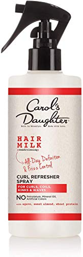 Carol's Daughter Hair Milk Curl Refresher Spray for Curls, Coils and Waves, with Agave, Sweet Almond and Wheat Protein, Hair Refresher Spray, 10 fl oz