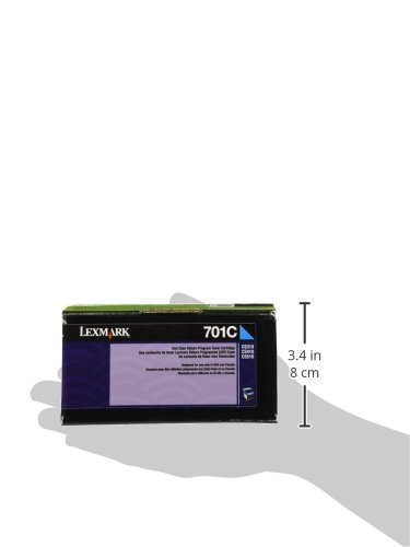 Lexmark 701c Cyan Return Program Toner Cartridge Photo #4