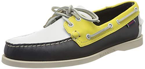 Sebago Portland Spinnaker, Men's 70001B0 Boat Shoes Multicolour (Navy-Yellow-White 973) 7.5 UK