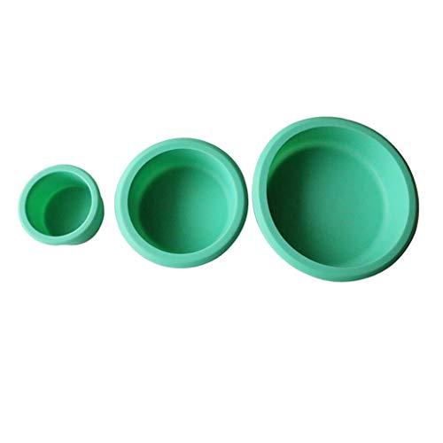 B Blesiya Juego de 3 moldes redondos de silicona para tartas y cupcakes