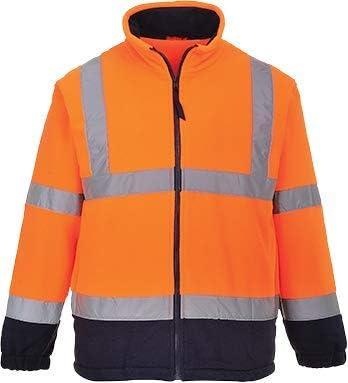 Portwest Workwear Mens Hi-Vis 2-Tone Fleece