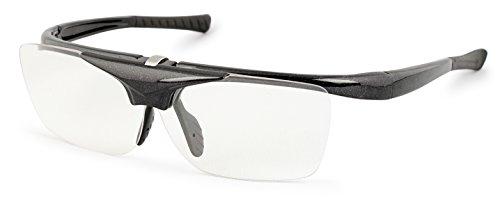 デューク 老眼鏡 跳ね上げ +2.5 度数 ハネアゲハイパー ブラック DR-008-1+2.50