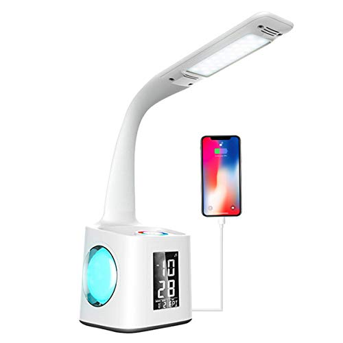 LED Desk Lamp with USB Charging Port, Night Atmosphere Lamp,...