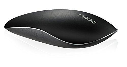 Rapoo T8 kabellose Nano-USB Lasermaus mit Multi-Touch-Oberfläche, 5 GHz Wireless-Verbindung, 1600 DPI-Sensor, schwarz