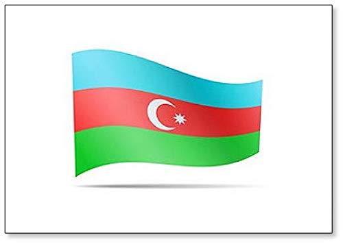 Klassischer Kühlschrankmagnet, Motiv: Flagge von Aserbaidschan