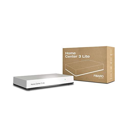 FIBARO Home Center 3 Lite, Z-Wave 700 Box mit Alexa, Google Home, Z-Wave Switches, Outlets, Thermostats, Sicherheitssensoren, Kameras und mehr, weiß, s, HC3L-001