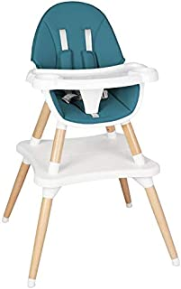 ZOUJUN Baby Dining Table and Chair,High Chair Adjustable Grow-Along Chair For Children with Tray and Safety Harness - Suit...