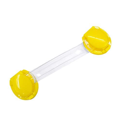 Cerradura De Protección De Armario Cerradura De Cajón De Puerta De Armario Cerradura De Seguridad De Protección Infantil 10 Piezas Candado largo simple amarillo