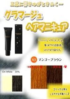 HOYU ホーユー グラマージュ ヘアマニキュア 63マンゴーブラウン 150g 【ブラウン系】