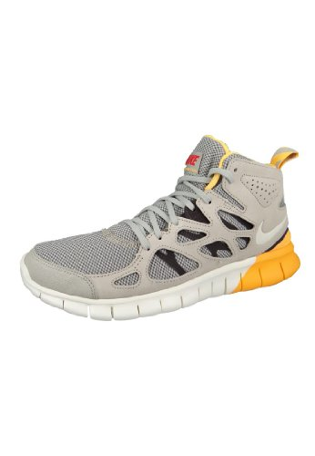 Nike Free Run 2 Sneakerboot Sneaker modello attuale 2014 grigio/nero/giallo/bianco, Grigio (Grigio Soft Grey White Black), 41 EU