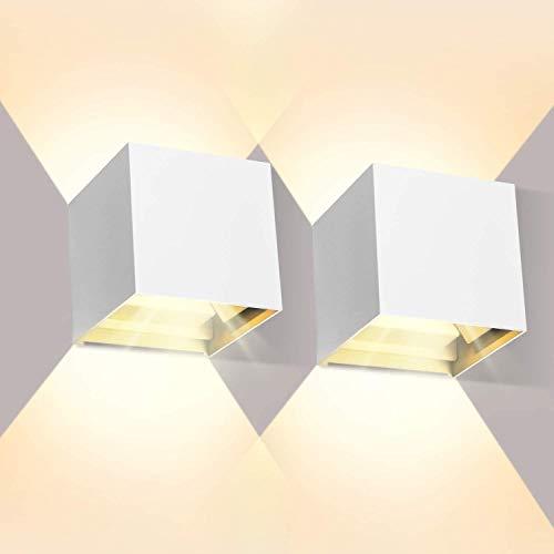 Bonlux 10W Apliques de Pared LED Interior Moderno de Aluminio 50CM, Impermeable...