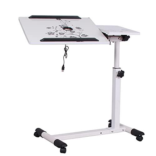 Cajolg Escritorio para computadora portátil, escritorio de oficina, podio móvil, altura ajustable, mesa auxiliar portátil para la cama, sofá mesa de comedor, B2