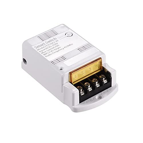 KKmoon 433MHz Switch Phone App Control Remoto Compatible con Amazon Alexa y para Google Home Voice Control Home Automation Kit 10A Temporizador de luz inalámbrico