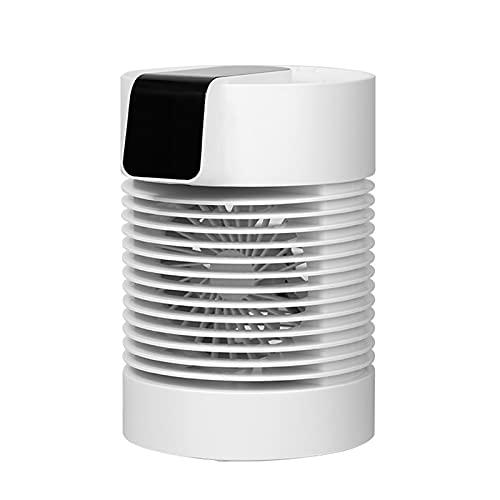 XMH Mini Ventilador De Aire Acondicionado Portátil, Ventilador De Escritorio con Enfriador De Aire 3 En 1, 3 Velocidades, Ventilador De Escritorio USB Portátil Silencioso Giratorio para El Hogar
