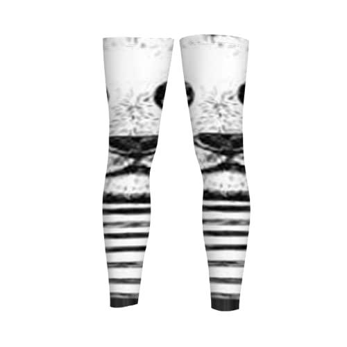 Fodmua Panathinaikos 69 mangas de pierna al aire libre, rodillera, manga larga, pantalones de compresión para correr, deportes, baloncesto, alivio del dolor de articulaciones, hombres y mujeres, 1 par