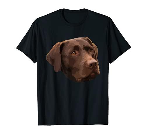 Funny Chocolate Lab T-Shirt | Labrador Retriever Dog Head