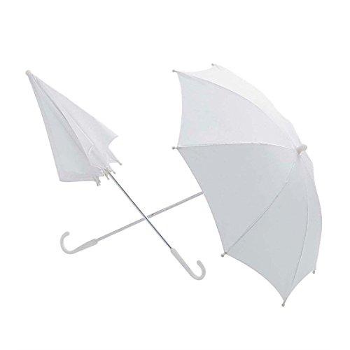 Weißer Regenschirm Hochzeit Sonnenschirm 60 cm Romantik Hochzeitsschirm Braut Schirm Edler Stockschirm 18 Jhd. Brautschirm