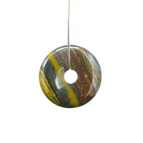 Donut Mediano de Ojo de Hierro para Colgante Minerales y Cristales, Be