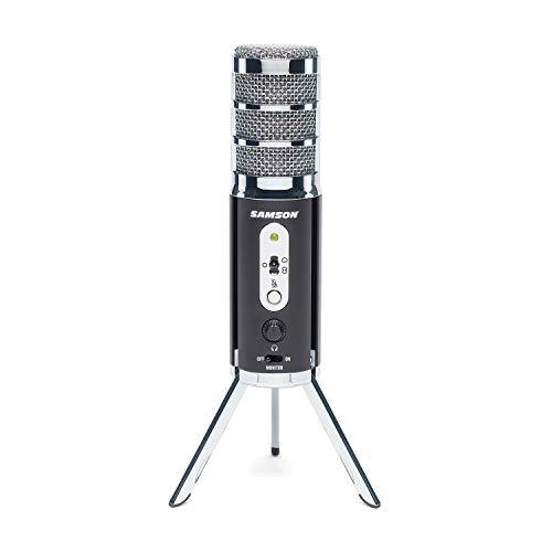 SAMSON Satellite - Micrófono de difusión USB/iOS para capturar Audio de Alta definición en tu Ordenador, iPhone o iPad - Negro, SASAT