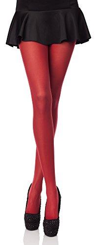 Merry Style Collant da Donna Opaco in Microfibra 40 DEN (Rubino, XS/S (Taglia Produttore:...