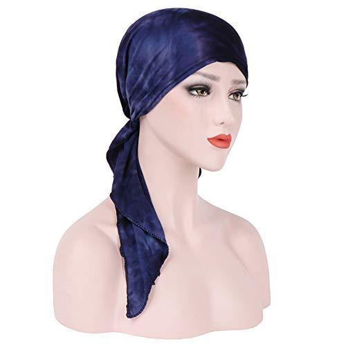 Amorar Muslimisches Kopftuch Frauen Baumwolle Bandana Turban Chemo Krebs Cap Hijab Bonnet Kopftücher Schal Hut Kopfbedeckung Schlafmütze für Haarverlust, Chemo, Krebs Cap...
