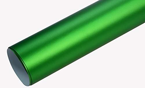 7€/m² Auto Folie - Chrom Matt apfel grün 300 x 152 cm selbstklebend BLASENFREI Car Wrapping Klebefolie