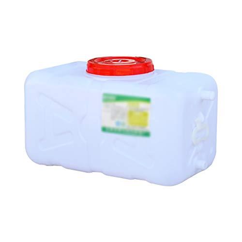 WYNZYYX Hogar del Envase del Agua, Horizontal Tanque De Almacenamiento, Tanque De Agua con Tapa - 25L / 30L - Adecuado For Su Viaje Campo del Uso del Coche (Size : 30L)